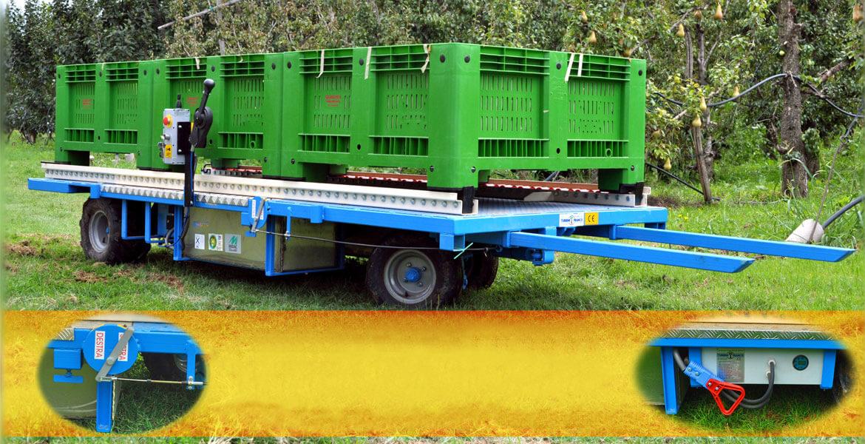 Piattaforma per raccolta frutta semovente elettrica - Modello TF 3500